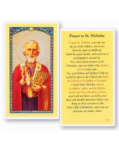 Prayer to St. Nicholas Holy Card