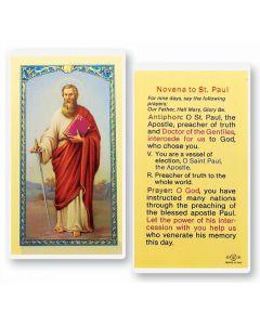 Novena to St. Paul Holy Card