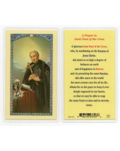 St. Paul of The Cross Holy Card