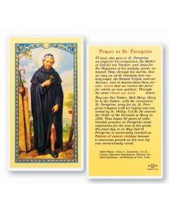 Prayer to St. Peregrine Holy Card