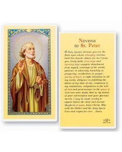 Novena to St. Peter Holy Card