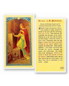 Novena to St. Philomena Holy Card