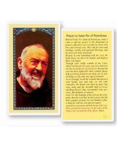 Prayer to St. Pio of Pietrelcina Holy Card