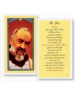St. Pio Holy Card