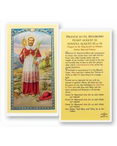 Prayer to St. Raymond Holy Card