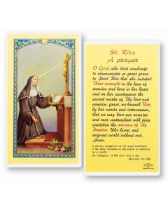 St.Rita Holy Card