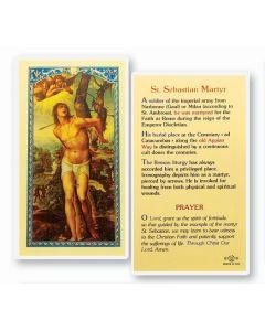 St. Sebastian Martyr Holy Card