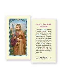 St. Simon Holy Card