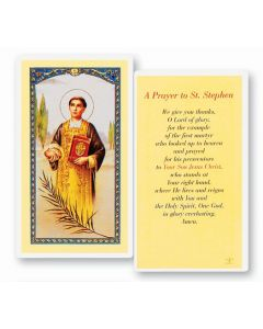 Prayer to St. Stephen Holy card