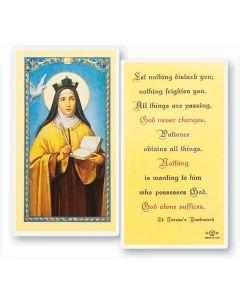 St. Teresa of Avila Holy Card