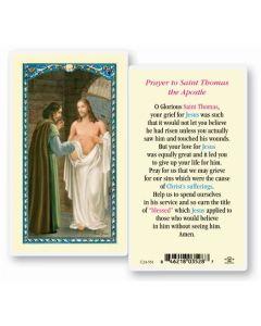 St. Thomas the Apostle Holy Card