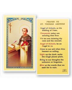 Prayer to St. Thomas Aquinas Holy Card