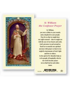 St. William Holy Card