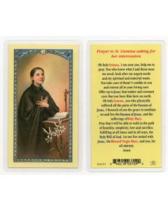 St. Gemma Holy Card