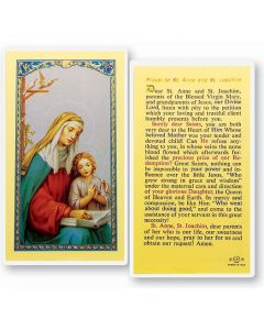 Sts. Anne and Joaquin Holy Card