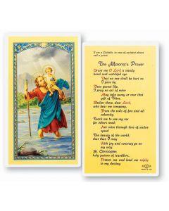 St. Christopher, Motorist, Holy Card