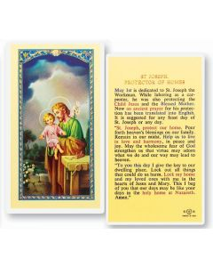 St. Joseph Protector of Homes Holy Card