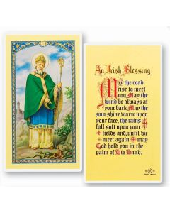 St. Patrick, An Irish Blessing, Holy Card