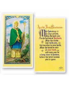 St. Patrick, An Old Irish Benidiction, Holy Card