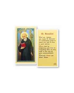 St. Benedict Holy Card