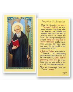 Prayer to St. Benedict Holy Card