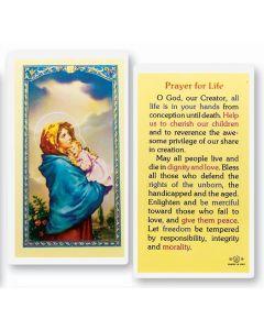 Prayer for Life Holy Card