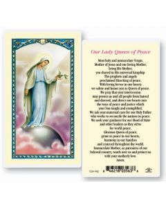 Our Lady Queen of Peace Holy Card