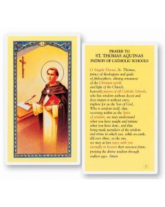 Prayer to St. Thomas Holy Card