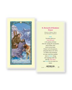 St. Bernard Holy Card