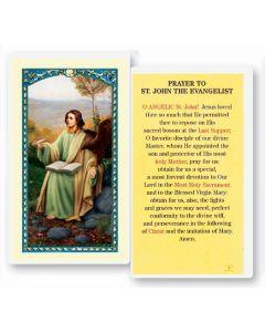 St. John The Evangelist Holy Card