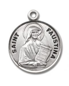 St. Maria Faustina SS Medal round