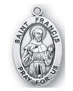 St. Francis SS medal oval