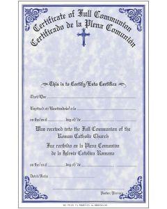 Certificate of Full Communion Bilingual