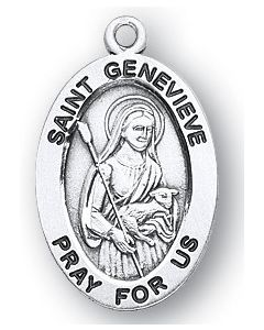 St. Genevieve SS medal oval