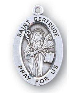 St. Gertrude SS medal oval