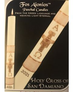 Holy Cross of San Damiano Paschal Candle