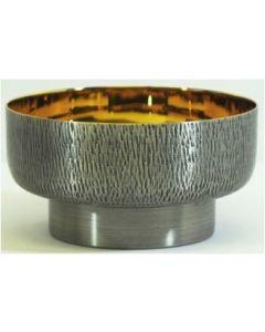 Silver Oxidized Host Bowl
