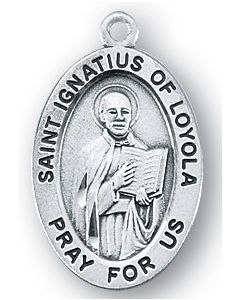 St. Ignatius of Loyola SS medal oval