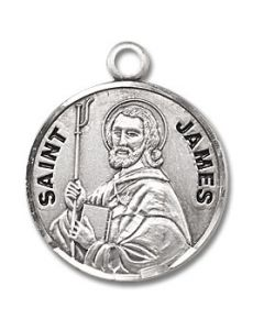 St. James the Greater SS medal round