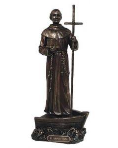 "St. Junipero Serra statue, 9""."