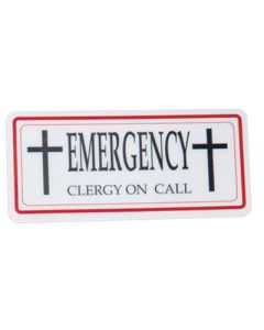 Clergy/Emergency Sign