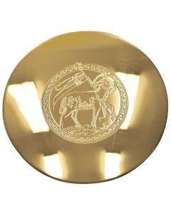 Paten with engraved Lamb