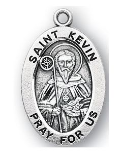 St. Kevin SS medal oval