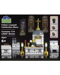 Father Leopold Celebrates Mass Lego Set