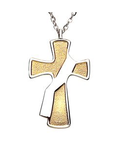 Deacon`s Cross-Two-Toned Pendant