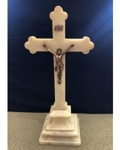 Vintage Marble Standing Crucifix