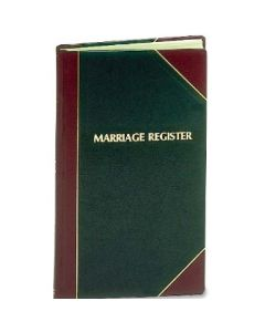 Marriage Church Record Book
