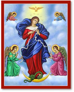 Mary, Untier of Knots Icon Plaque