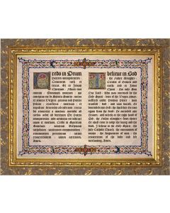 Latin-English Apostles Creed Gold Framed Art