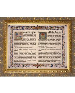 Latin-English Hail Holy Queen Gold Framed Art